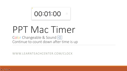 Timer for PowerPoint for Mac