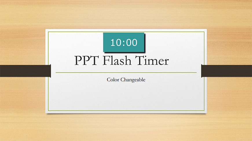 PPT Flash Timer color changeable