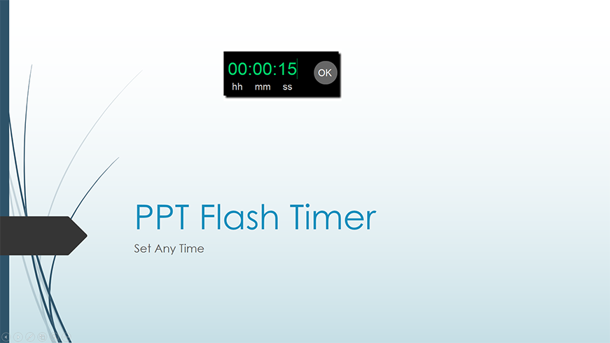PPT Flash Timer set any time