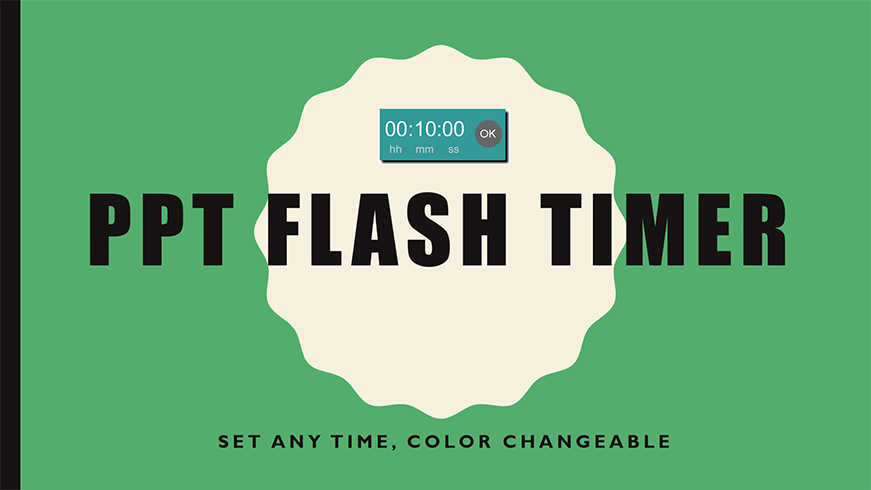 PPT Flash Timer Set Any Time, Color Changeable
