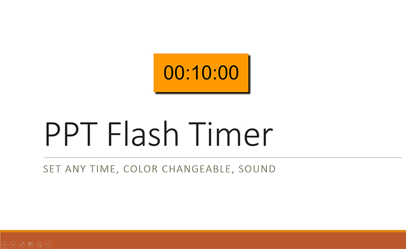 PPT Flash Timer set any time, color changeable, play sound