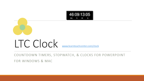 Countdown to a Date Time for PowerPoint for Windows